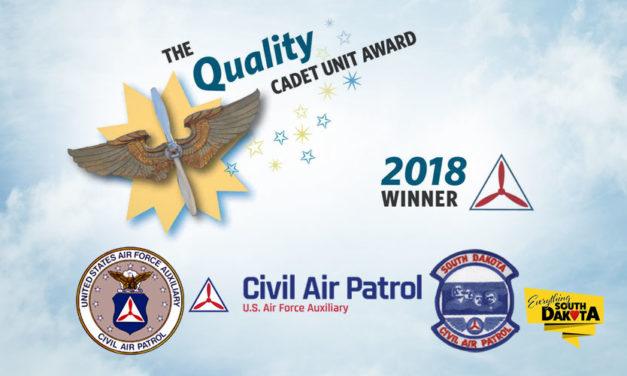 Three South Dakota CAP Squadrons Win Quality Cadet Unit Award – South Dakota Wing, Civil Air Patrol