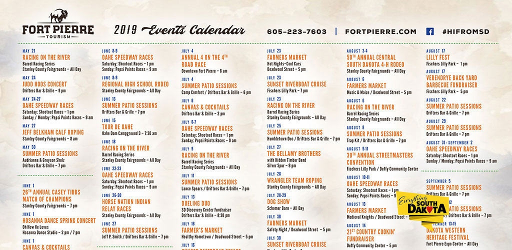 Fort Pierre Events for 2019