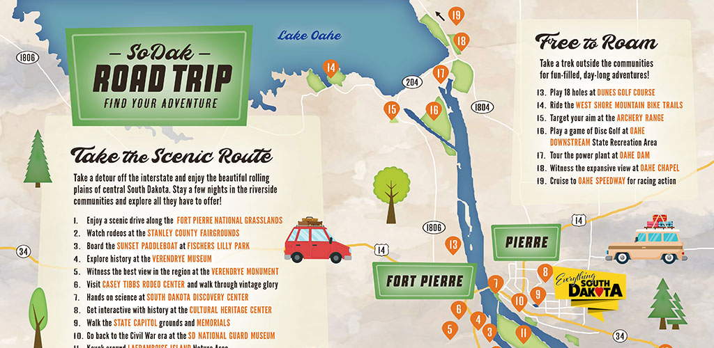 Find Your Adventure in Fort Pierre and Pierre – SoDak Road Trip Map