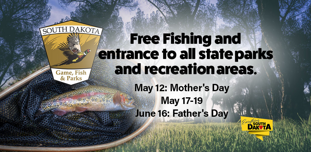 GFP is hosting free fishing and entrance to all state parks and recreation areas