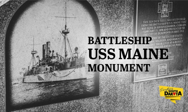 Battleship USS Maine Monument in Deadwood