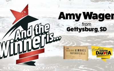 Amy Wager from Gettysburg, SD is our October Kimball Popcorn Ball Winner!