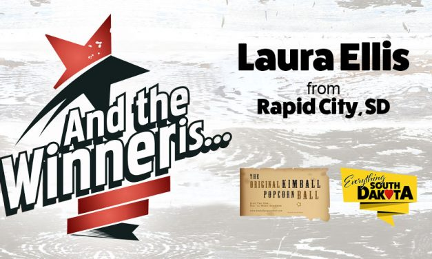 Laura Ellis from Rapid City, SD is our December Kimball Popcorn Ball Winner!