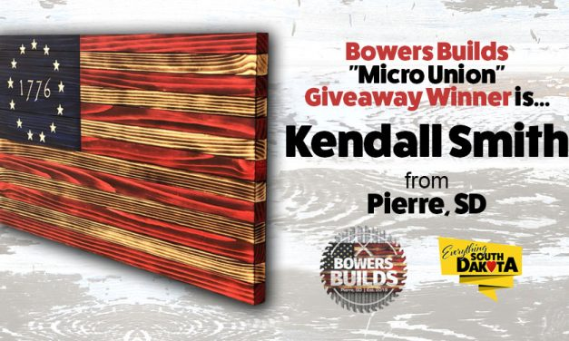 "Kendall Smith from Pierre, SD is our Bowers Builds ""Micro Union"" Giveaway Winner!"