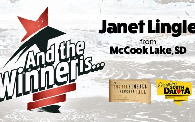 Janet Lingle from McCook Lake, SD is our January Kimball Popcorn Ball Winner!