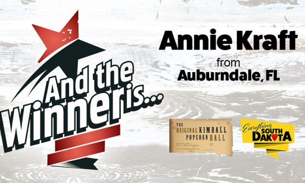 Annie Kraft from Auburndale, FL is our February Kimball Popcorn Ball Winner!