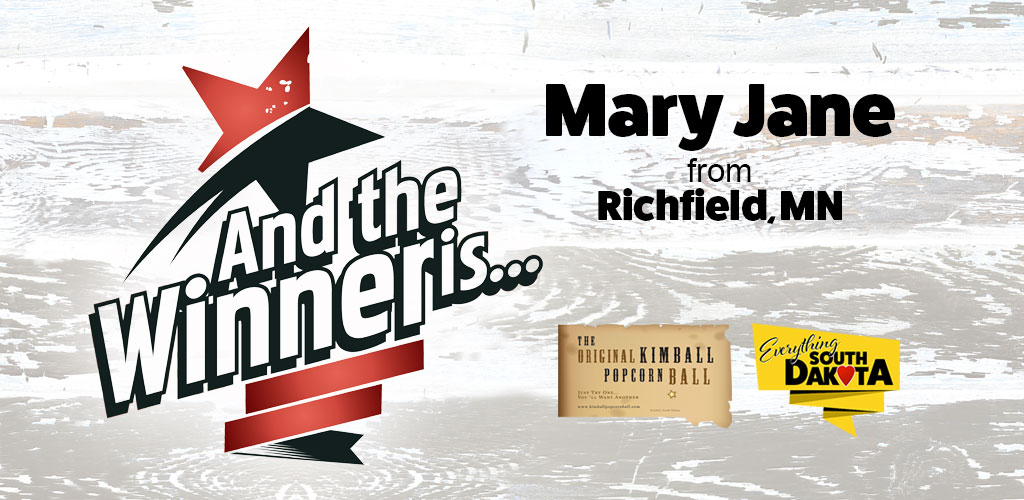 Mary Jane from Richfield, MN is our April Kimball Popcorn Ball Winner!