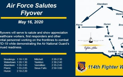 114th Fighter Wing Flyovers