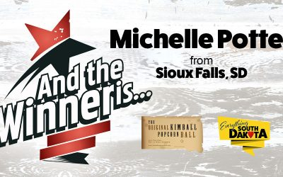 Michelle from Sioux Falls, SD is our June Kimball Popcorn Ball Winner!
