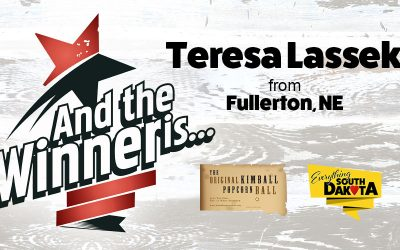 Teresa from Fullerton, NE is our July Kimball Popcorn Ball Winner!