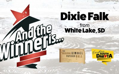 Dixie from White Lake, SD is our August Kimball Popcorn Ball Winner!