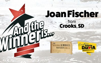 Joan from Crooks, SD is our September Kimball Popcorn Ball Winner!
