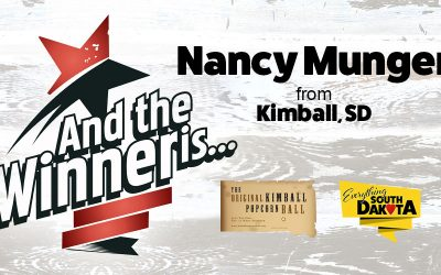 Nancy from Kimball, SD is our October Kimball Popcorn Ball Winner!