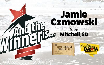 Jamie from Mitchell, SD is our November Kimball Popcorn Ball Winner!