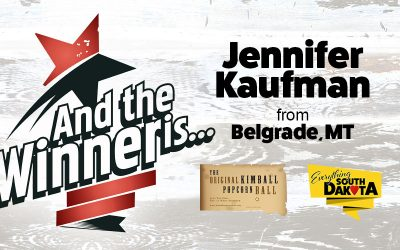 Jennifer from Belgrade, MT is our December Kimball Popcorn Ball Winner!