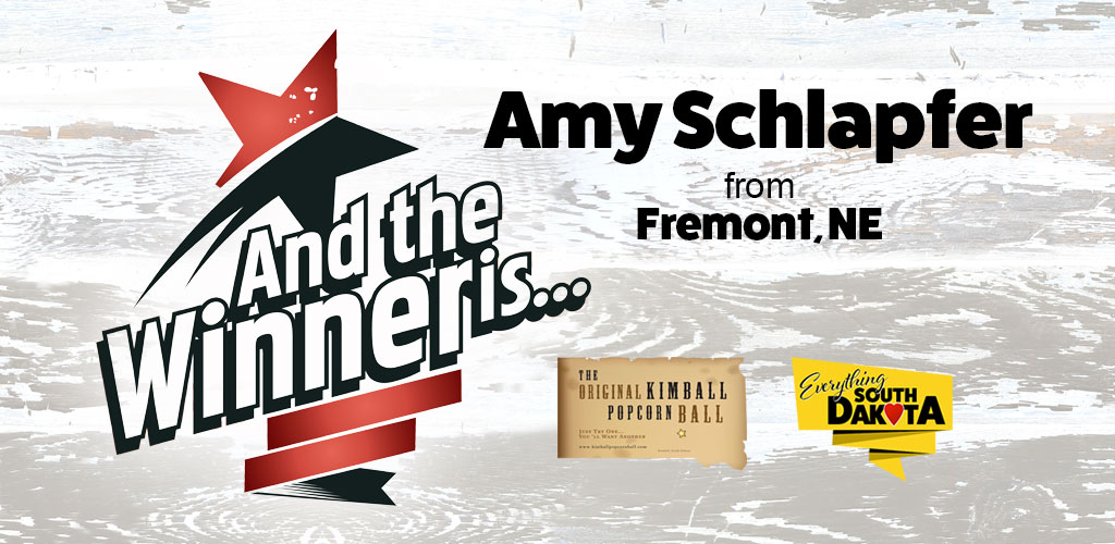 Amy from Fremont, NE is our January Kimball Popcorn Ball Winner!