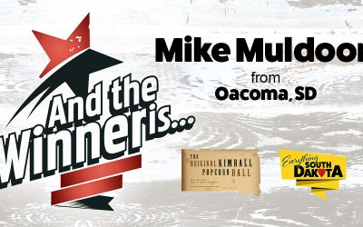 Mike from Oacoma, SD is our February Kimball Popcorn Ball Winner!