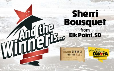 Sherri from Elk Point, SD is our August Kimball Popcorn Ball Winner!